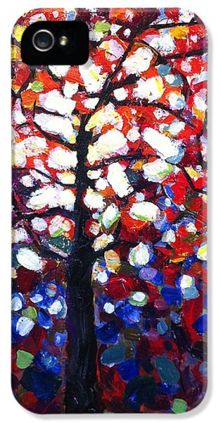 Stained iPhone 5 Cases - Stained Glass Tree iPhone 5 Case by Mary Medrano