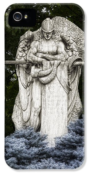 Archangel iPhone 5 Cases - Standing Guard iPhone 5 Case by Tom Mc Nemar