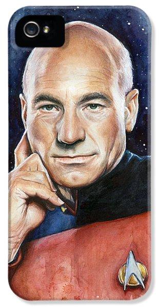 Captain Picard Portrait IPhone 5 / 5s Case by Olga Shvartsur