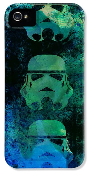 Tv Show iPhone 5 Cases - Star Warriors Watercolor 1 iPhone 5 Case by Naxart Studio