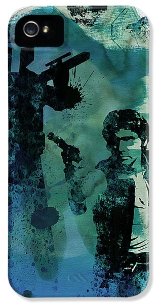 Tv Show iPhone 5 Cases - Star Warriors Watercolor 2 iPhone 5 Case by Naxart Studio