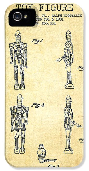 Yoda iPhone 5 Cases - Star Wars Toy Figure no5 patent drawing from 1982 - Vintage iPhone 5 Case by Aged Pixel