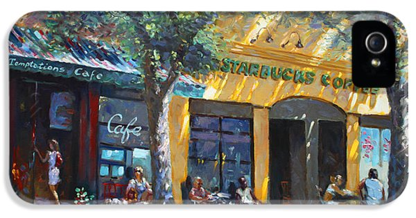 Main Street iPhone 5 Cases - Starbucks Hangout Nyack NY iPhone 5 Case by Ylli Haruni