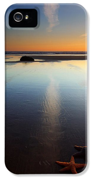 Oregon Coast iPhone 5 Cases - Starfish Sunset iPhone 5 Case by Mike  Dawson