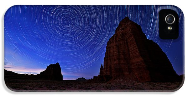 Night iPhone 5 Cases - Stars Above the Moon iPhone 5 Case by Chad Dutson
