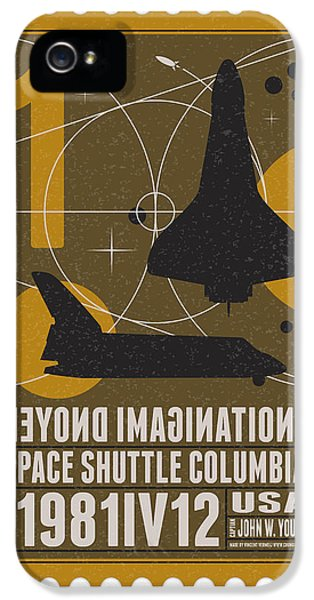 Science Fiction iPhone 5 Cases - Starschips 01-poststamp - Spaceshuttle iPhone 5 Case by Chungkong Art