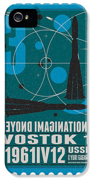 Science Fiction iPhone 5 Cases - Starschips 03-poststamp - Vostok iPhone 5 Case by Chungkong Art