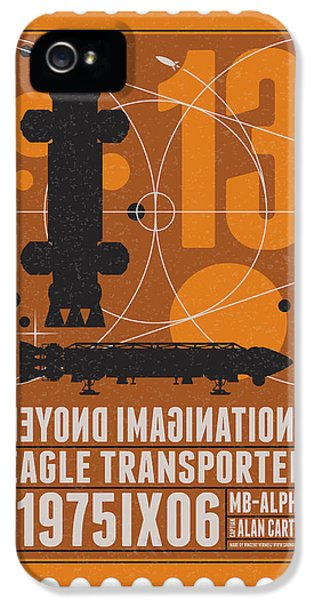 Science Fiction iPhone 5 Cases - Starschips 13-poststamp - Space 1999 iPhone 5 Case by Chungkong Art