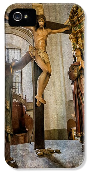 Il iPhone 5 Cases - Statue of Jesus iPhone 5 Case by Adrian Evans