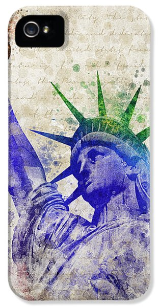 City iPhone 5 Cases - Statue of Liberty iPhone 5 Case by Aged Pixel