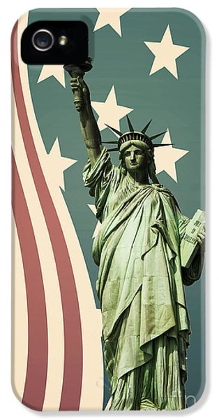 Statue Photographs iPhone 5 Cases - Statue of Liberty iPhone 5 Case by Juli Scalzi