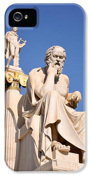 Apollo Print iPhone 5 Cases - Statues of Socrates and Apollo iPhone 5 Case by George Atsametakis