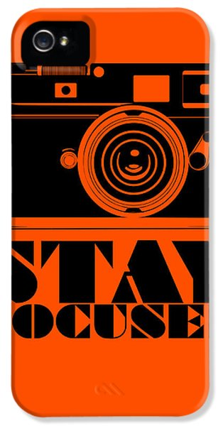 Wise iPhone 5 Cases - Stay Focused Poster iPhone 5 Case by Naxart Studio