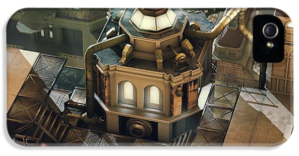 Steam-punk iPhone 5 Cases - Steam City iPhone 5 Case by Marc Orphanos