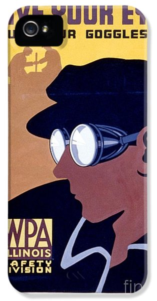 Steam-punk iPhone 5 Cases - Steam Punk WPA Vintage Safety Poster iPhone 5 Case by Wpa