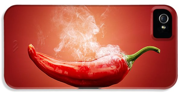 Indoors iPhone 5 Cases - Steaming hot Chilli iPhone 5 Case by Johan Swanepoel
