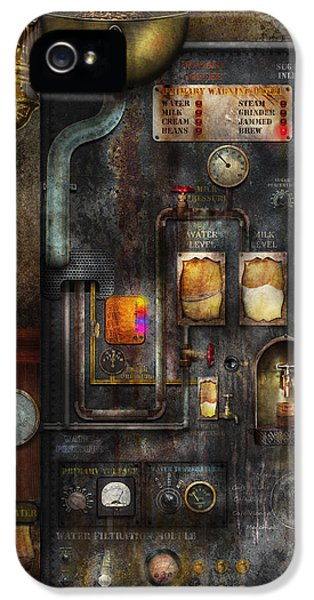 Pipes iPhone 5 Cases - Steampunk - All that for a cup of coffee iPhone 5 Case by Mike Savad