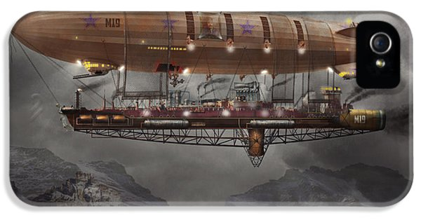 Macabre iPhone 5 Cases - Steampunk - Blimp - Airship Maximus  iPhone 5 Case by Mike Savad