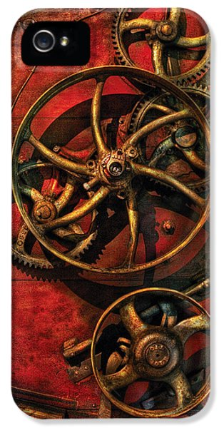 Mech iPhone 5 Cases - Steampunk - Clockwork iPhone 5 Case by Mike Savad