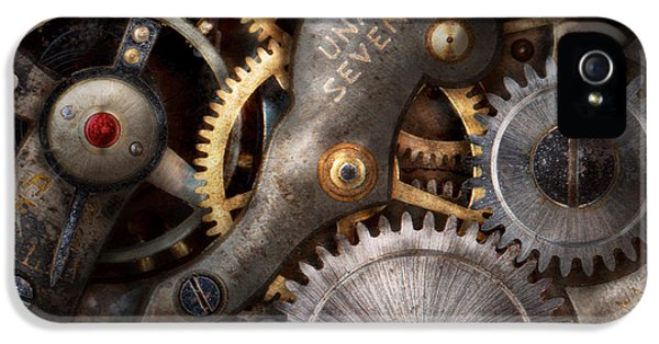 Steam-punk iPhone 5 Cases - Steampunk - Gears - Horology iPhone 5 Case by Mike Savad