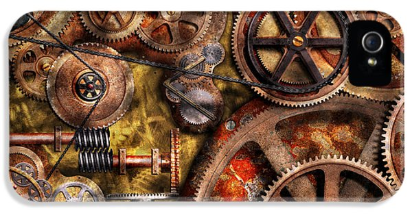 Steampunk iPhone 5 Cases - Steampunk - Gears - Inner Workings iPhone 5 Case by Mike Savad