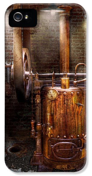 Modern Steampunk iPhone 5 Cases - Steampunk - Powering the modern home iPhone 5 Case by Mike Savad