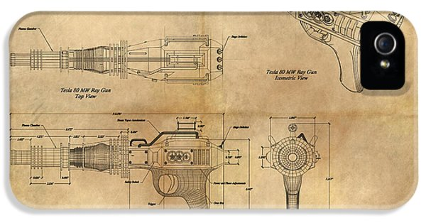 Steampunk iPhone 5 Cases - Steampunk Raygun iPhone 5 Case by James Christopher Hill