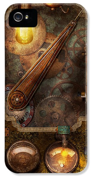 Msavad iPhone 5 Cases - Steampunk - Victorian fuse box iPhone 5 Case by Mike Savad