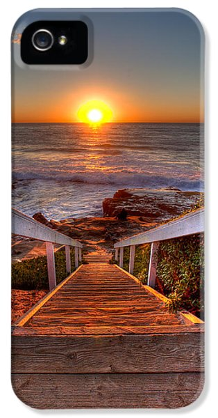 Hdr iPhone 5 Cases - Steps to the Sun  iPhone 5 Case by Peter Tellone