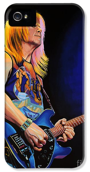 Composer iPhone 5 Cases - Steve Morse iPhone 5 Case by Paul  Meijering