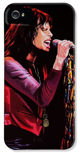 Steven Tyler In Aerosmith IPhone 5 / 5s Case by Paul Meijering