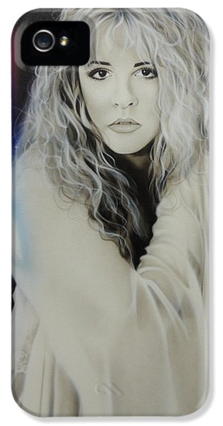 Famous People iPhone 5 Cases - Stevie Nicks iPhone 5 Case by Christian Chapman Art