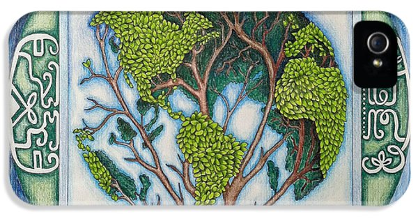 Native American iPhone 5 Cases - Stewardship of the Earth iPhone 5 Case by Arla Patch