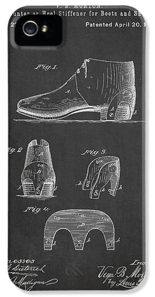 High Heel iPhone 5 Cases - Stiffner for Boots and shoes Patent Drawing From 1880 iPhone 5 Case by Aged Pixel