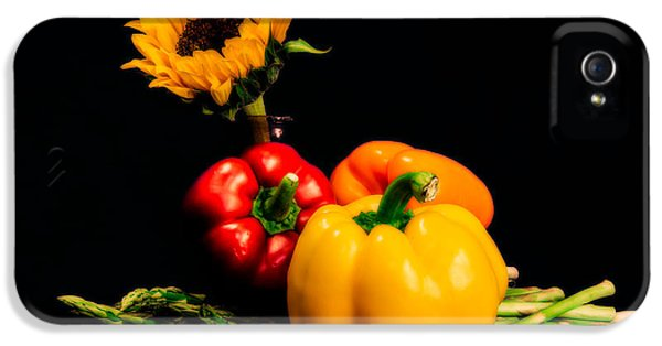 Still Life Peppers Asparagus Sunflower IPhone 5 / 5s Case by Jon Woodhams