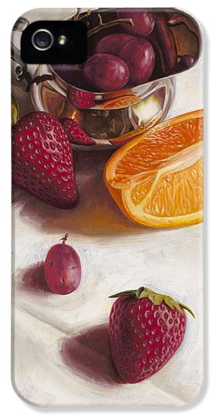 Orange iPhone 5 Cases - Still LIfe Reflections iPhone 5 Case by Ron Crabb