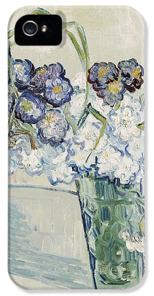 Carnations iPhone 5 Cases - Still Life Vase of Carnations iPhone 5 Case by Vincent van Gogh