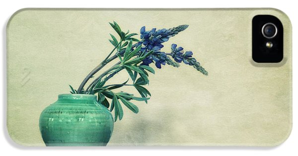 Landscape Format iPhone 5 Cases - Still life with Yukon Lupines iPhone 5 Case by Priska Wettstein