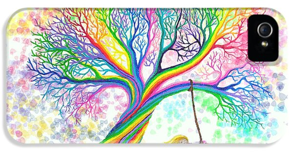 Whimsical iPhone 5 Cases - Still MOre Rainbow Tree Dreams iPhone 5 Case by Nick Gustafson