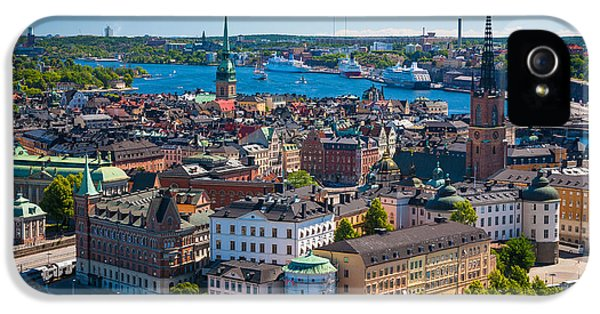 Scandinavian iPhone 5 Cases - Stockholm from Above iPhone 5 Case by Inge Johnsson