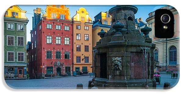Scandinavian iPhone 5 Cases - Stockholm Stortorget iPhone 5 Case by Inge Johnsson