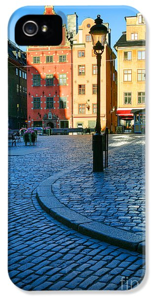 Scandinavian iPhone 5 Cases - Stockholm Stortorget Square iPhone 5 Case by Inge Johnsson