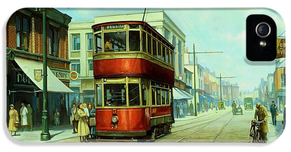 Old Tram iPhone 5 Cases - Stockport tram. iPhone 5 Case by Mike  Jeffries