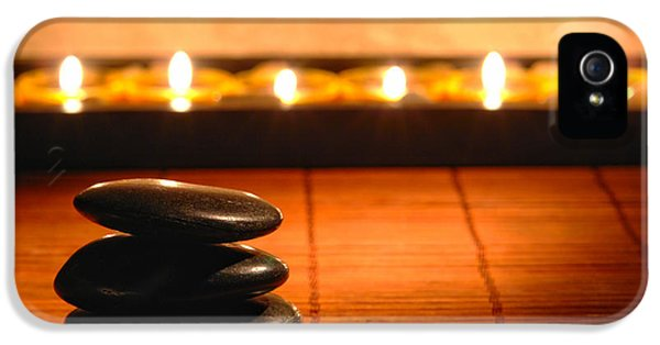 Soft iPhone 5 Cases - Stone Cairn and Candles for Quiet Meditation iPhone 5 Case by Olivier Le Queinec