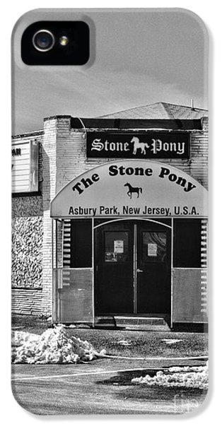 Springsteen iPhone 5 Cases - Stone Pony in Black and White iPhone 5 Case by Paul Ward
