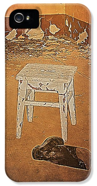 Stool And Boot In Abounded Soviet Army Barrack IPhone 5 / 5s Case by Guna  Andersone