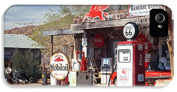 Fuel And Power Generation iPhone 5 Cases - Store With A Gas Station iPhone 5 Case by Panoramic Images