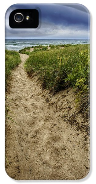Weather iPhone 5 Cases - Stormy Beach iPhone 5 Case by Sebastian Musial