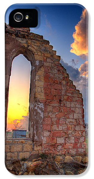 Decay iPhone 5 Cases - Stormy Church iPhone 5 Case by Thomas Zimmerman