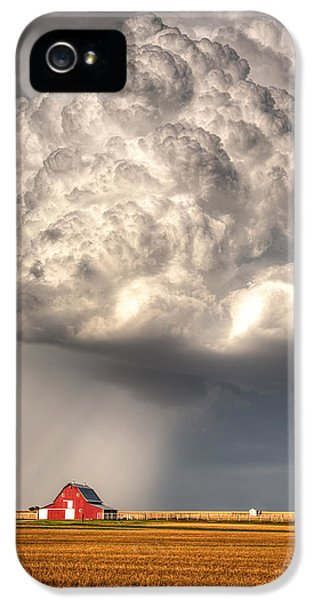 Thought iPhone 5 Cases - Stormy Homestead Barn iPhone 5 Case by Thomas Zimmerman